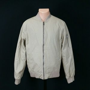 Old Navy Men's Khaki Bomber Jacket Size Medium